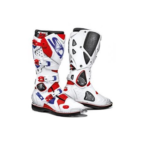 SIDI MX BOOTS CROSSFIRE 2 WHITE RED BLUE