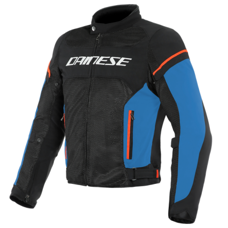 DAINESE AIR FRAME D1 TEX BLACK LIGHT-BLUE FLUO-RED