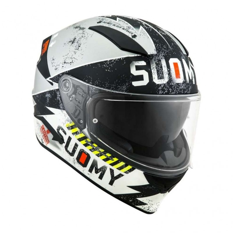 SUOMY Helm SPEEDSTAR PROPELLER MATT SILVER BLACK