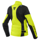 DAINESE AIR-TOURER LADY TEX FLUO-YELLOW EBONY BLACK