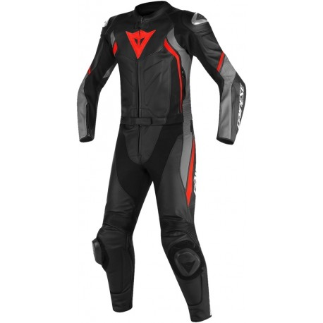 DAINESE AVRO D2 2PC BLACK/GRAY/RED-FLUO