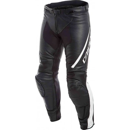 DAINESE Pants Leather ASSEN BLACK WHITE
