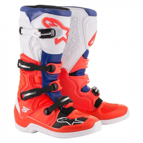 ALPINESTARS TECH 5 RED BLUE WHITE