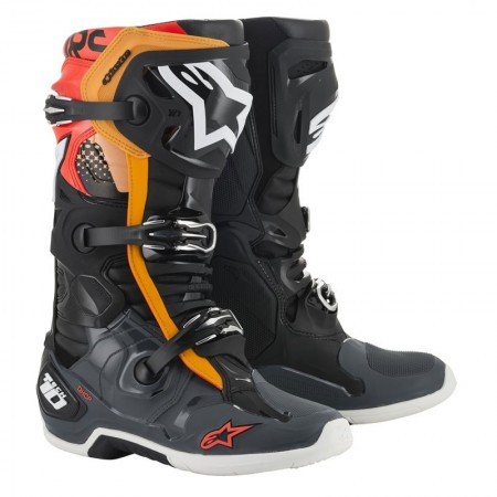 ALPINESTARS TECH 10 BLACK GRAY ORANGE FLUO