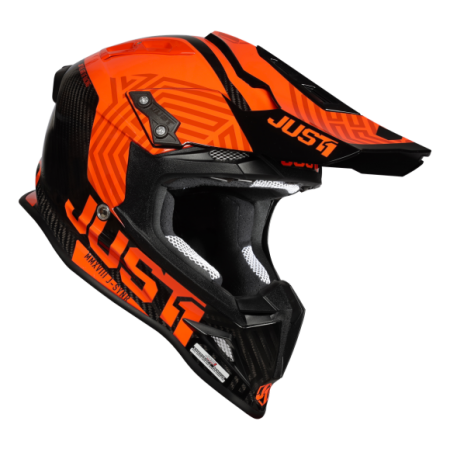 JUST1 J12 Syncro MX Helm Fluo Orange/Carbon Gloss