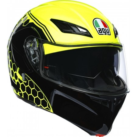 AGV COMPACT ST DETROIT YELLOW FLUO-BLACK