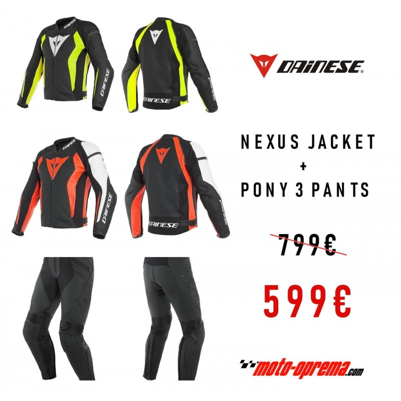 DAINESE NEXUS Leather Jacket + PONY 3 Pants