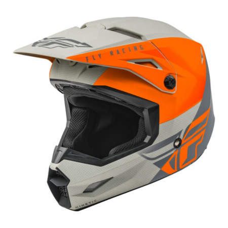 FLY RACING STRAIGHT EDGE ECE MATTE ORANGE GREY
