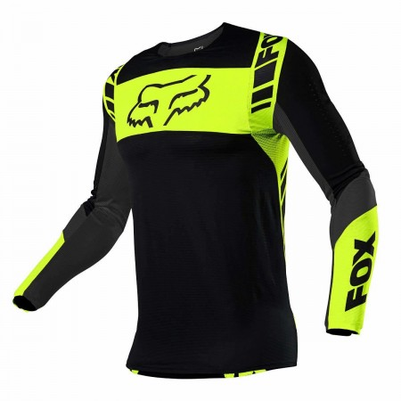 FOX FLEXAIR MX JERSEY MACH ONE BLACK YELLOW