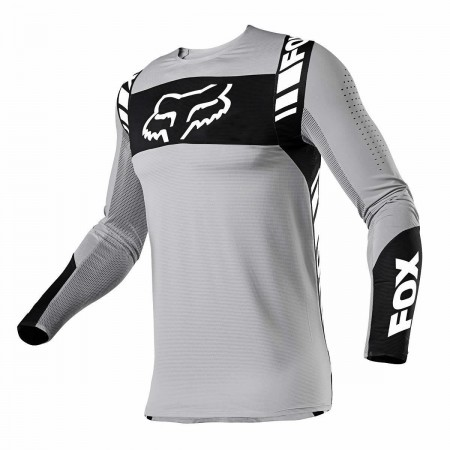 FOX FLEXAIR MX JERSEY MACH ONE STEEL GREY