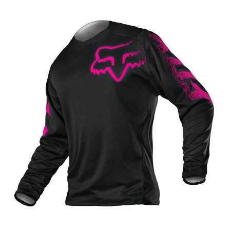 FOX MX GIRL JERSEY BLACKOUT BLACK PINK