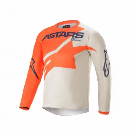 ALPINESTARS MX KIDS JERSEY RACER BRAAP ORANGE GRAY BLUE
