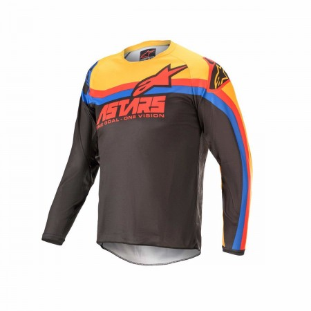 ALPINESTARS MX KIDS JERSEY RACERVENOM BLACK RED ORANGE