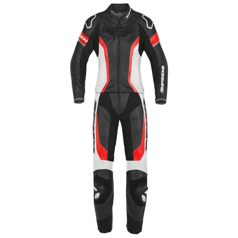 SPIDI LASER TOURING LADY LEATHER 2PC BLACK RED