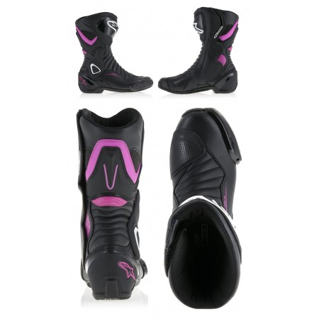 ALPINESTARS STELLA SMX-6 V2 BLACK BLACK PURPLE WOMAN