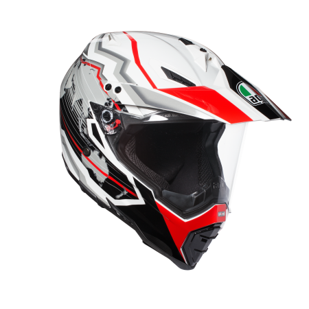 AGV AX-8 DUAL EVO EARTH BLACK WHITE RED