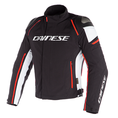 DAINESE RACING 3 D-DRY BLACK WHITE FLUO RED