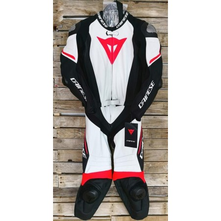 DAINESE LAGUNA SECA 4 2PC BLACK WHITE RED FLUO