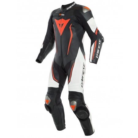 DAINESE MISANO 2 D-AIR PERF BLACK WHITE FLUO RED
