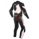 DAINESE MISANO 2 D-AIR PERFORATED BLACK WHITE FLUO RED