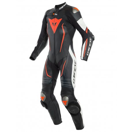DAINESE MISANO 2 LADY D-AIR PERFORATED BLACK WHITE FLUO RED