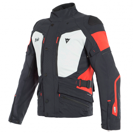 DAINESE CARVE MASTER 2 D-AIR GORE-TEX BLACK LIGHT GRAY RED
