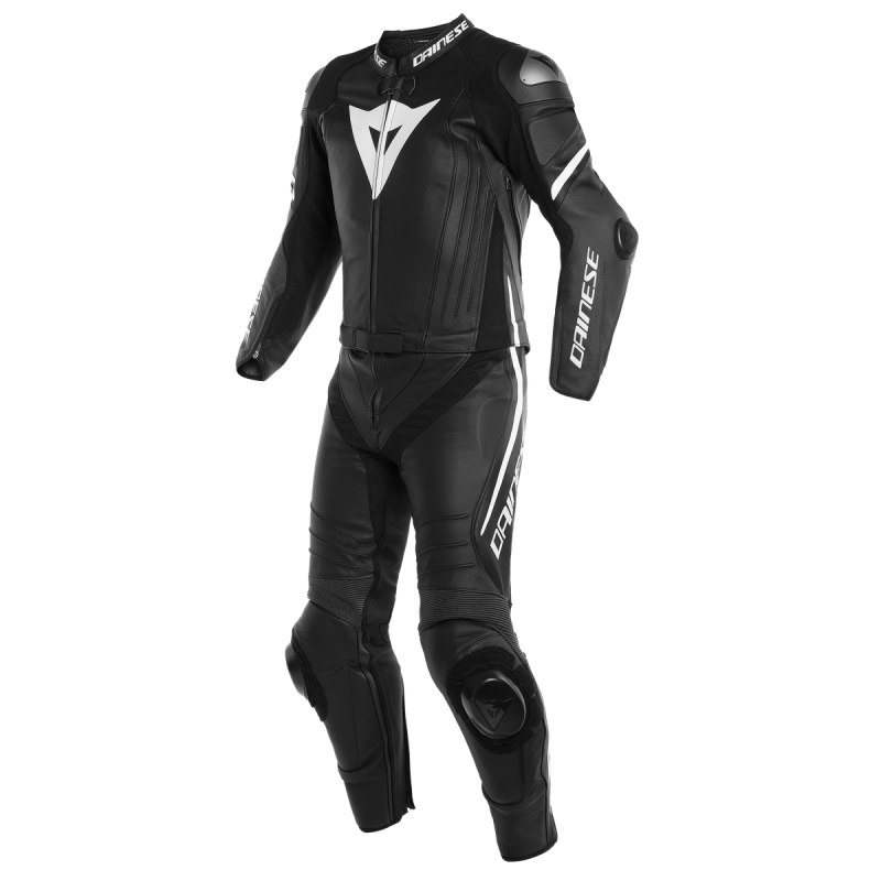 DAINESE LAGUNA SECA 4 2PC BLACK MATT WHITE
