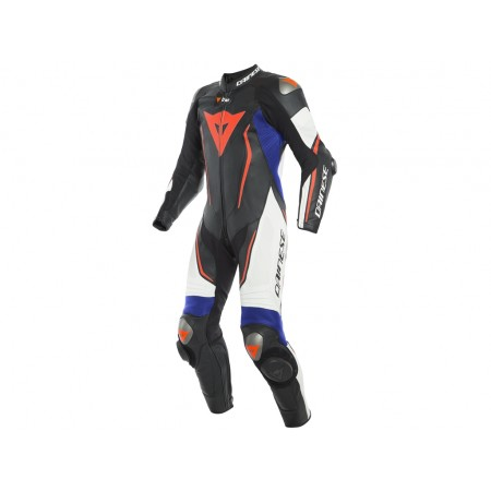 DAINESE MISANO 2 D-AIR PERF BLACK WHITE FLUO RED BLUE