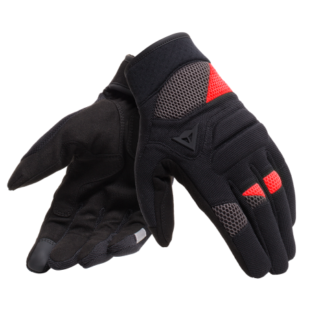 DAINESE Gloves FOGAL UNISEX BLACK/RED