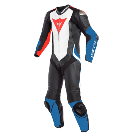 DAINESE LAGUNA SECA 4 1PC PERF BLACK WHITE LIGHT BLUE
