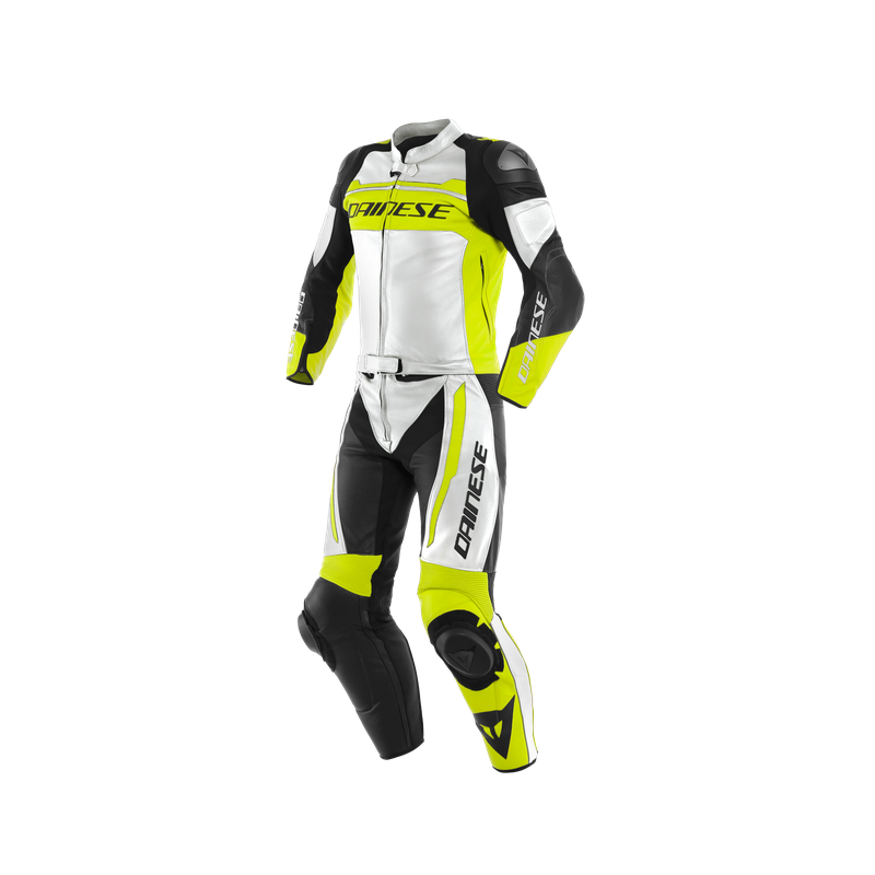 DAINESE MISTEL 2PC WHITE FLUO YELLOW BLACK