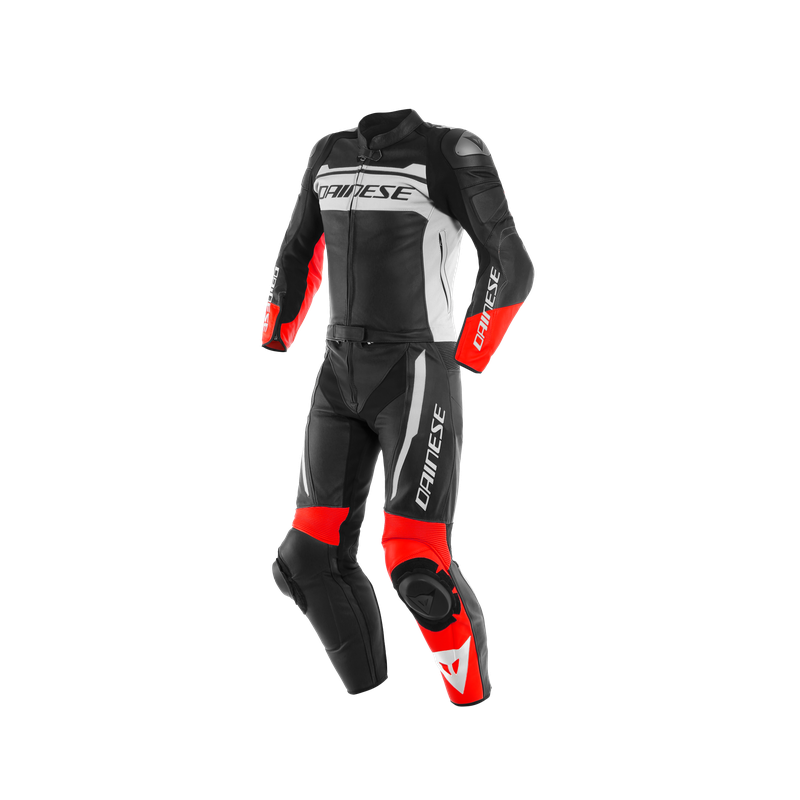 DAINESE MISTEL 2PC BLACK MATT WHITE LAVA-RED