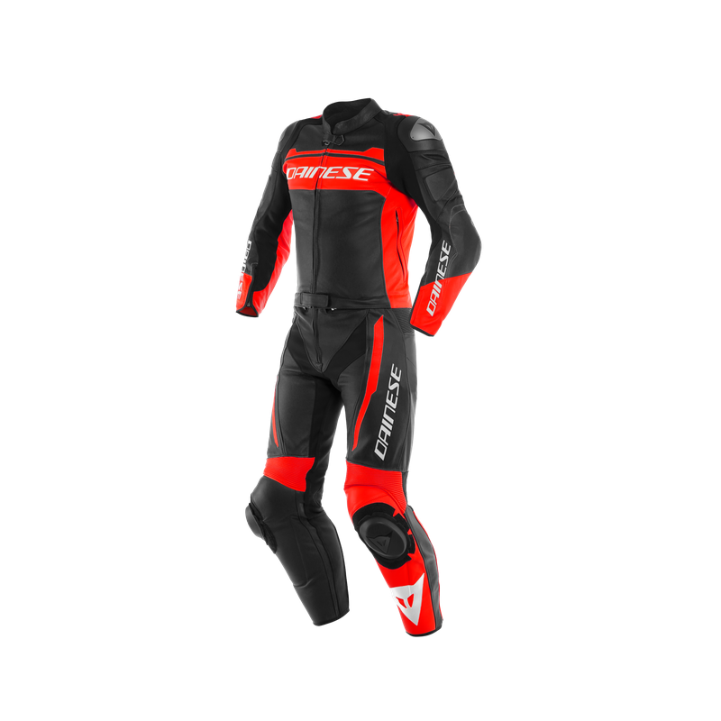 DAINESE MISTEL 2PC BLACK MATT FLUO RED BLACK MATT